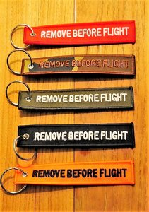 set 1: Remove Before Flight Keychains Keyrings Key Chains 5 different colors
