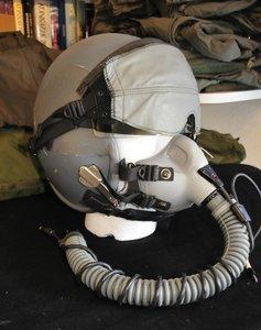 Gentex HGU-55/P flight helmet Large with MBU-12/P oxygen mask Short Grey Visor cover