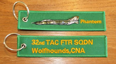 F-4E Phantom 32nd TFS Wolfhounds keyring keychain