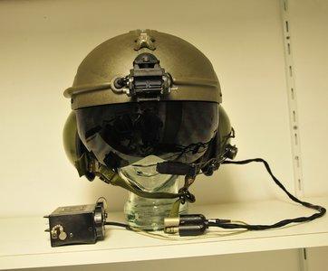 Gentex SPH-4 flight helmet with Night Vision Goggle NVG mount & NVG battery box